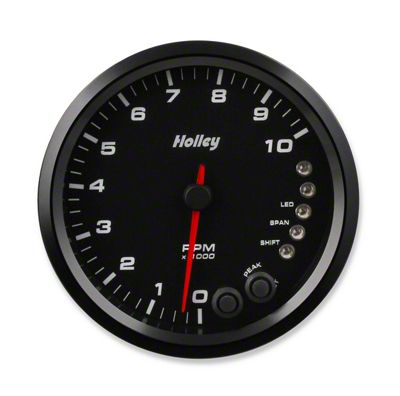 Holley Performance 4.5 in. Analog-Style 0-10K Tachometer - Black (02-19 RAM 1500)