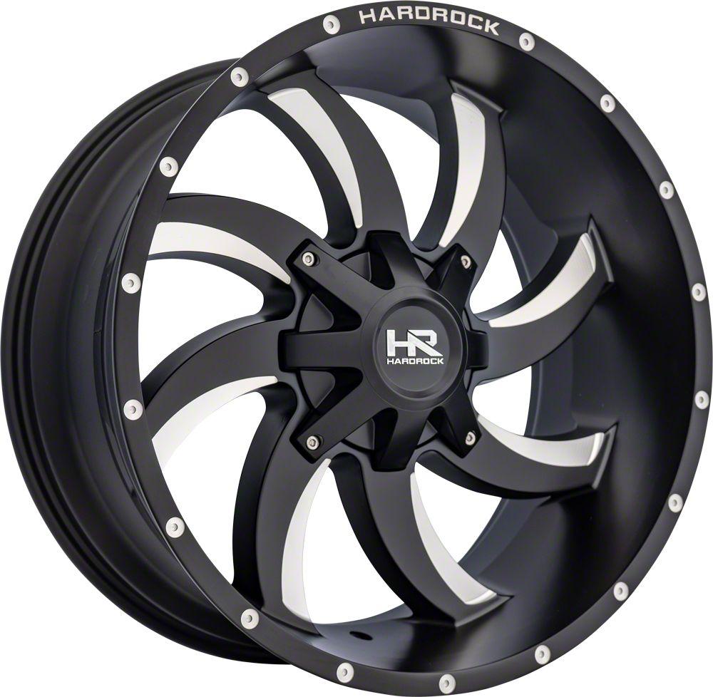 Hardrock Offroad H701 DEVIOUS Black Milled 8-Lug Wheel - 22x10 (06-08 RAM 1500 Mega Cab)