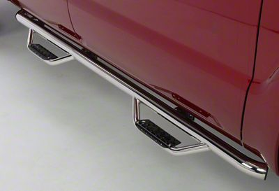 Go Rhino Dominator D2 Cab Length Side Step Bars - Stainless Steel (09-18 RAM 1500 Quad Cab)