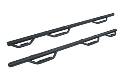 Go Rhino Dominator D3 Modular Wheel to Wheel Side Step Bars - Textured Black (02-08 RAM 1500 Quad Cab)