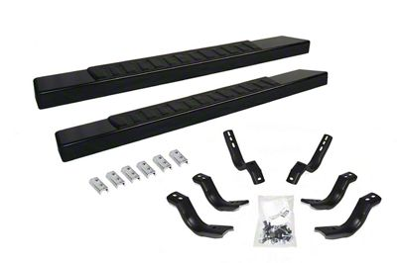 Go Rhino 6 in. OE Xtreme II Side Step Bars - Textured Black (09-18 RAM 1500 Regular Cab)