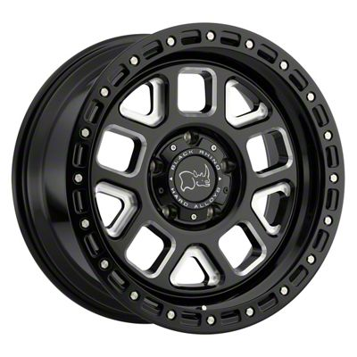 Black Rhino Alpine Gloss Black Milled 5-Lug Wheel - 18x9.5 (02-18 RAM 1500, Excluding Mega Cab)