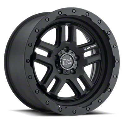 Black Rhino Barstow Textured Matte Black 5-Lug Wheel - 18x9.5 (02-18 RAM 1500, Excluding Mega Cab)