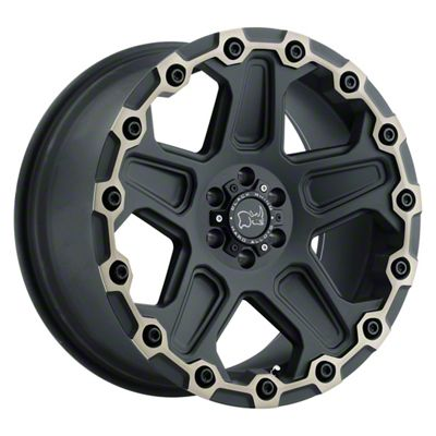 Black Rhino Cog Dark Tint Matte Black Machined 5-Lug Wheel - 18x9.5 (02-18 RAM 1500, Excluding Mega Cab)