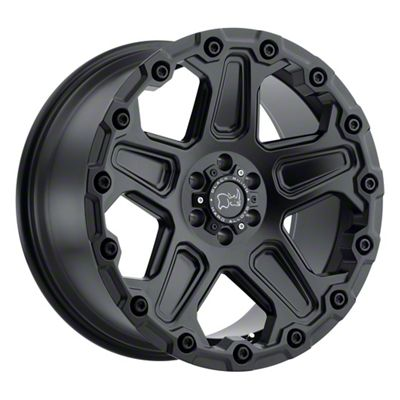 Black Rhino Cog Matte Black 5-Lug Wheel - 17x9.5 (02-18 RAM 1500, Excluding Mega Cab)