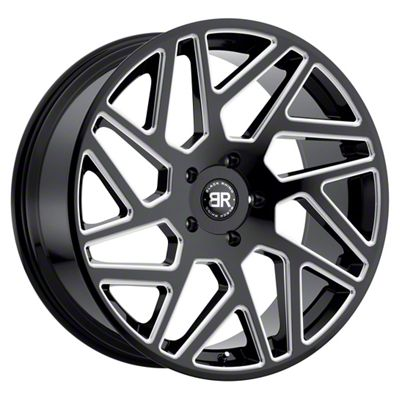 Black Rhino Cyclone Gloss Black Milled 5-Lug Wheel - 20x9 (02-18 RAM 1500, Excluding Mega Cab)
