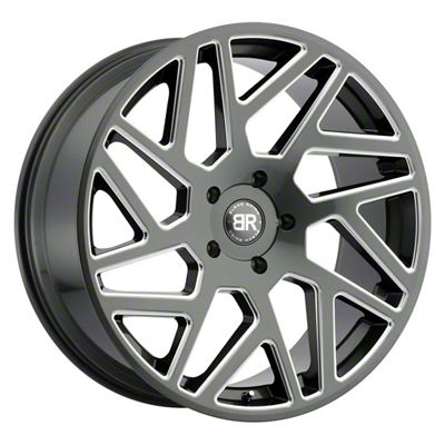 Black Rhino Cyclone Gloss Titanium Milled 5-Lug Wheel - 20x9 (02-18 RAM 1500, Excluding Mega Cab)