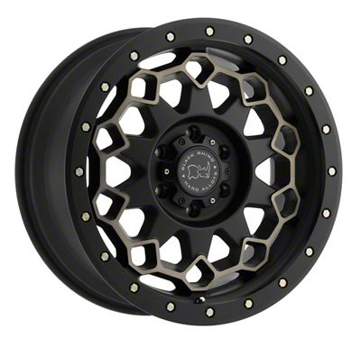 Black Rhino Diamante Dark Tint Matte Black Machined w/ Bronze Bolts 5-Lug Wheel - 17x9 (02-18 RAM 1500, Excluding Mega Cab)