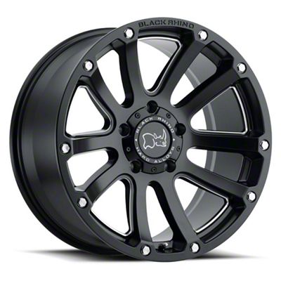 Black Rhino Highland Matte Black 5-Lug Wheel - 20x9.5 (02-18 RAM 1500, Excluding Mega Cab)