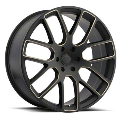 Black Rhino Kunene Matte Black Dart Tint Milled 5-Lug Wheel - 22x9.5 (02-18 RAM 1500, Excluding Mega Cab)