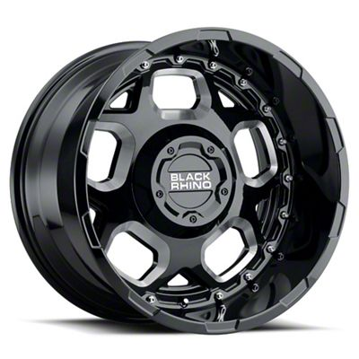 Black Rhino Gusset Gloss Black Milled 8-Lug Wheel - 20x11.5 (06-08 RAM 1500 Mega Cab)