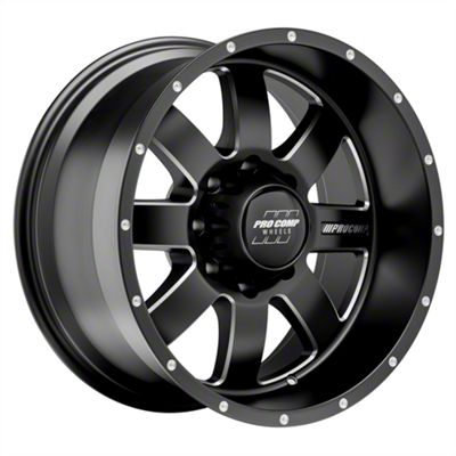 Pro Comp Trilogy Satin Black 5-Lug Wheel - 20x10 (02-18 RAM 1500, Excluding Mega Cab)
