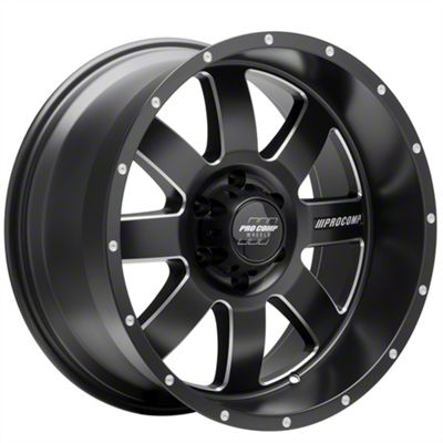 Pro Comp Trilogy Satin Black 6-Lug Wheel - 17x9 (2019 RAM 1500)