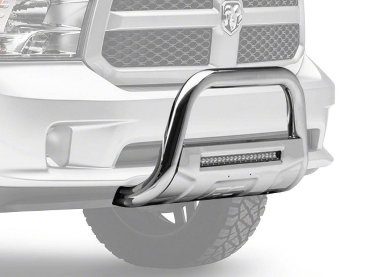 Rough Country Bull Bar w/ LED Light Bar - Stainless Steel (09-18 RAM 1500, Excluding Rebel)