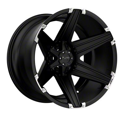 Tuff A.T. T12 Satin Black w/ Brushed Inserts 6-Lug Wheel - 26x12 (2019 RAM 1500)
