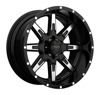 Tuff A.T. T15 Gloss Black Machined 6-Lug Wheel - 22x10 (2019 RAM 1500)