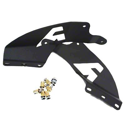 52 in. Curved LED Light Bar Double Stack Roof Mounting Brackets (02-08 RAM 1500)