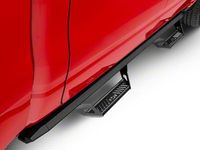 N-Fab Predator Pro Nerf Side Step Bars - Textured Black (2019 RAM 1500 Crew Cab)