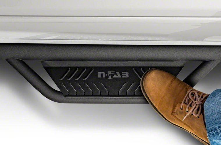 N-Fab Cab Length Podium Nerf Side Step Bars - Textured Black (15.5-18 RAM 1500 Quad Cab)