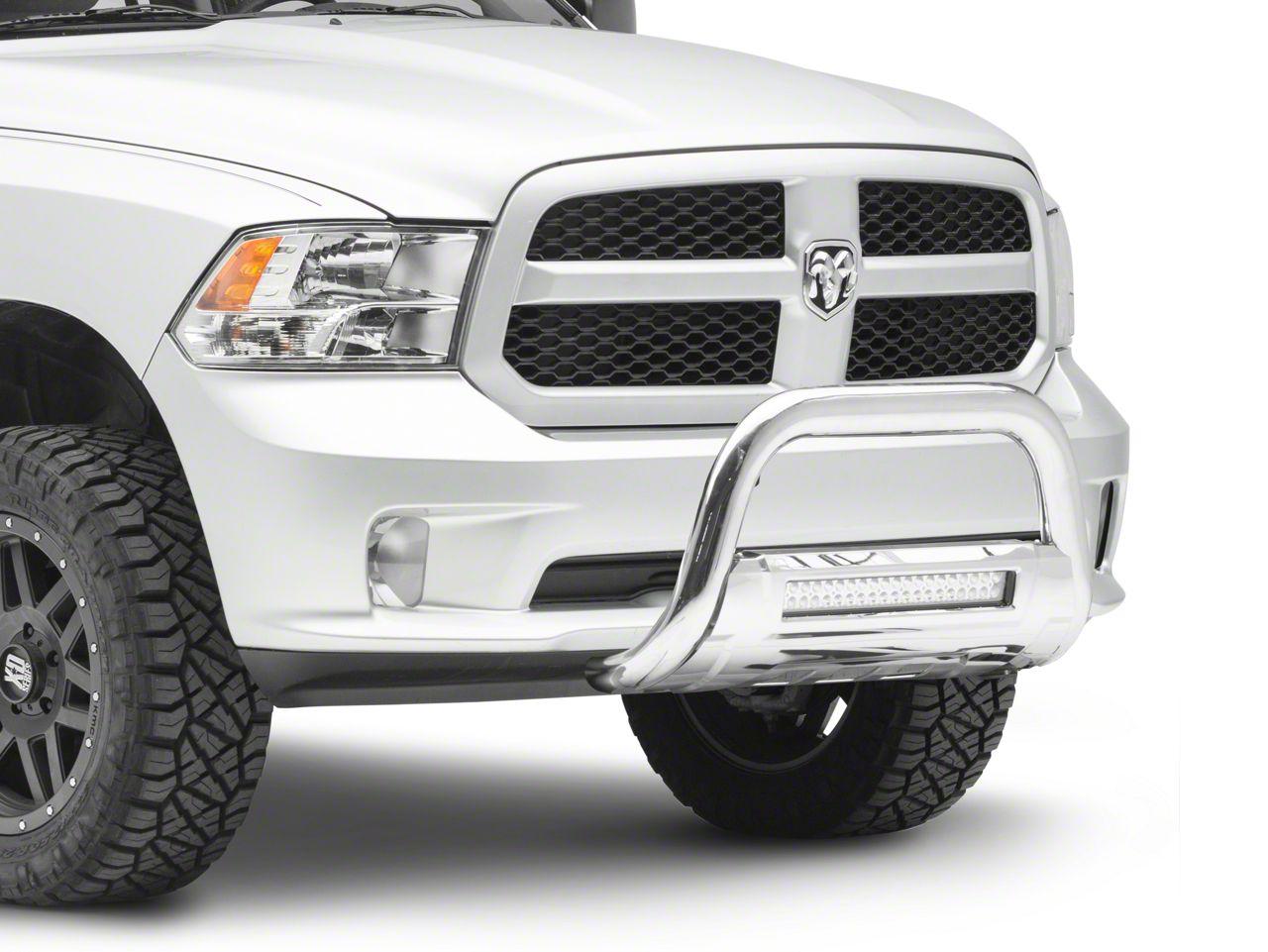 Barricade HD Bull Bar w/ Skid Plate & 20 in. LED Light Bar - Stainless Steel (09-18 RAM 1500, Excluding Rebel)