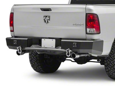 ICI Magnum Series Rear Bumper w/ KC Back-Up Lights - Not Pre-Drilled for Backup Sensors (09-18 RAM 1500 w/ Factory Single Exhaust)