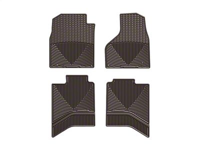 Weathertech All Weather Front & Rear Rubber Floor Mats - Cocoa (12-18 RAM 1500 Quad Cab)
