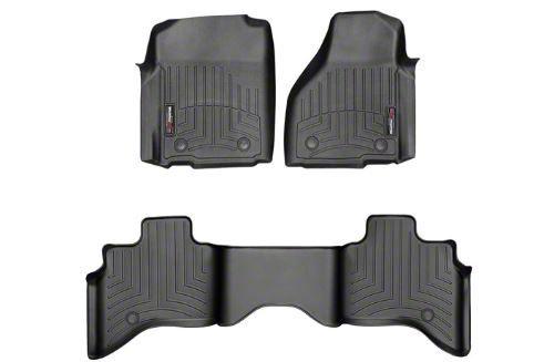 Weathertech DigitalFit Front & Rear Floor Liners - Black (12-18 RAM 1500 Quad Cab w/ Vinyl Floors)