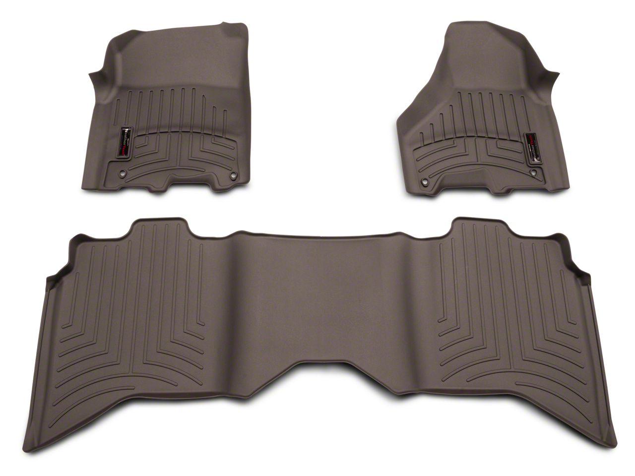 Weathertech DigitalFit Front & Rear Floor Liners - Cocoa (09-18 RAM 1500 Crew Cab)