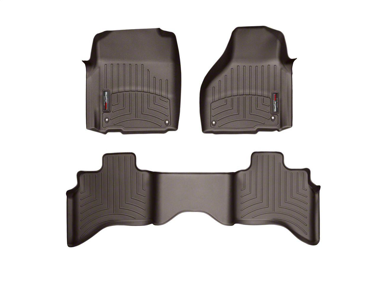 Weathertech DigitalFit Front & Rear Floor Liners - Cocoa (09-18 RAM 1500 Quad Cab)
