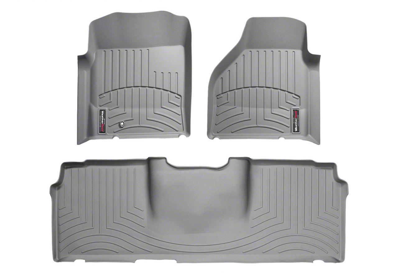 Weathertech DigitalFit Front & Rear Floor Liners - Gray (06-08 RAM 1500 Mega Cab)