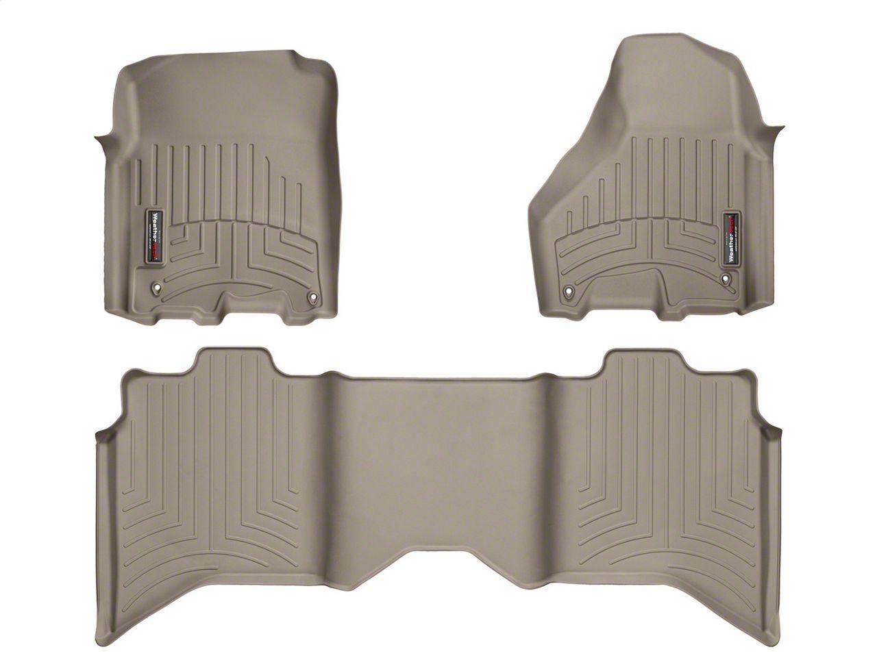 Weathertech DigitalFit Front & Rear Floor Liners - Tan (09-18 RAM 1500 Crew Cab)