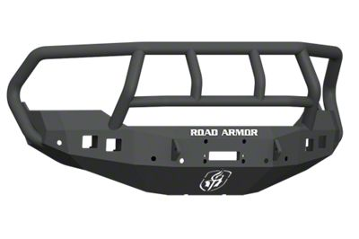 Road Armor Stealth Winch Front Bumper w/ Titan II Guard - Satin Black (13-18 RAM 1500, Excluding Rebel)