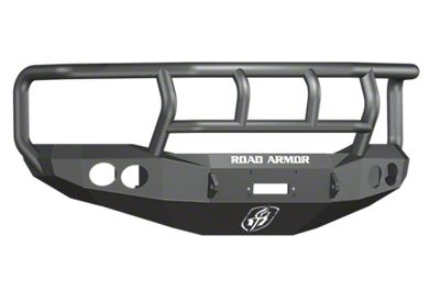 Road Armor Stealth Winch Front Bumper w/ Titan II Guard & Round Light Mounts - Satin Black (06-08 RAM 1500)
