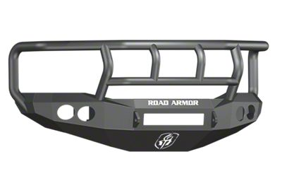 Road Armor Stealth Non-Winch Front Bumper w/ Titan II Guard & Round Light Mounts - Satin Black (06-08 RAM 1500)