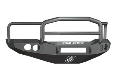 Road Armor Stealth Non-Winch Front Bumper w/ Lonestar Guard & Round Light Mounts - Satin Black (06-08 RAM 1500)