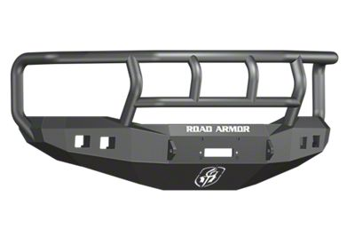 Road Armor Stealth Winch Front Bumper w/ Titan II Guard & Square Light Mounts - Satin Black (06-08 RAM 1500)