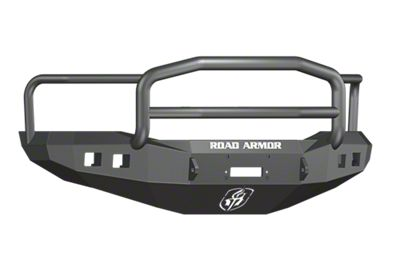 Road Armor Stealth Winch Front Bumper w/ Lonestar Guard & Square Light Mounts - Satin Black (06-08 RAM 1500)
