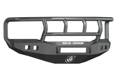 Road Armor Stealth Non-Winch Front Bumper w/ Titan II Guard & Square Light Mounts - Satin Black (06-08 RAM 1500)