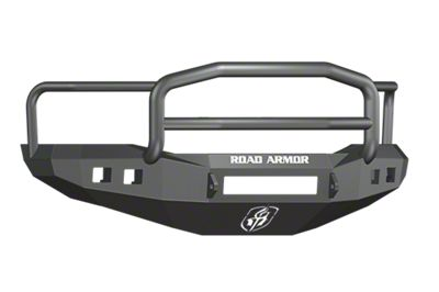 Road Armor Stealth Non-Winch Front Bumper w/ Lonestar Guard & Square Light Mounts - Satin Black (06-08 RAM 1500)