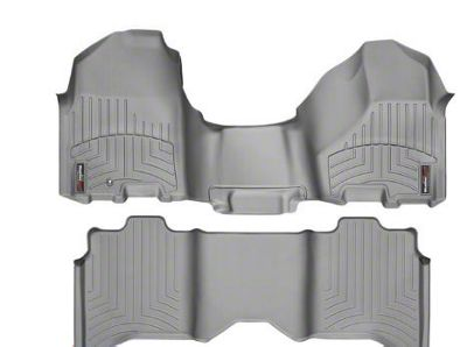 Weathertech DigitalFit Front & Rear Floor Liners - Over The Hump - Gray (09-12 RAM 1500 Crew Cab)