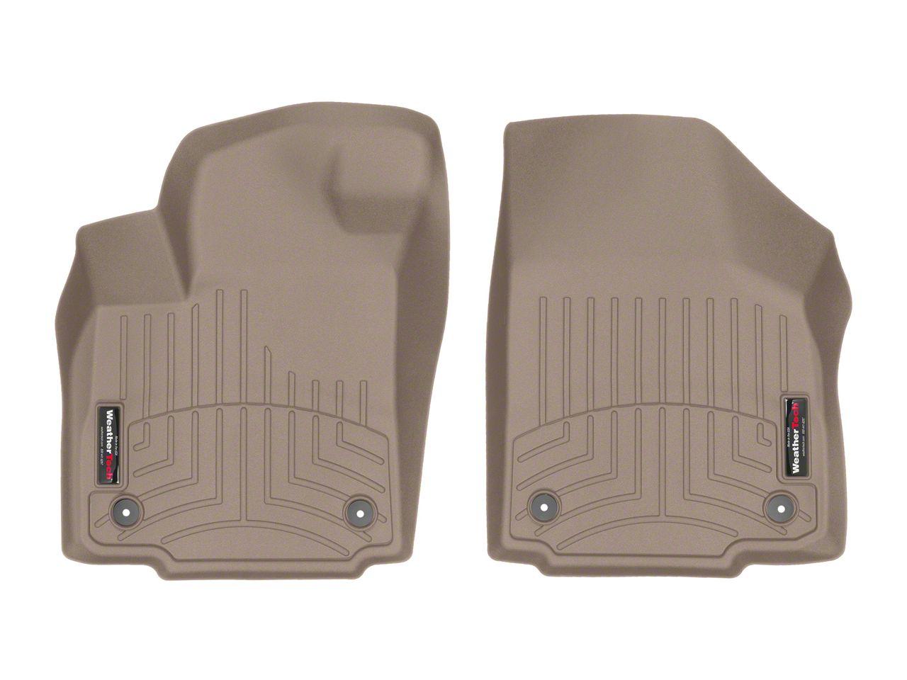 Weathertech DigitalFit Front Floor Liners - Tan (2019 RAM 1500 Crew Cab)