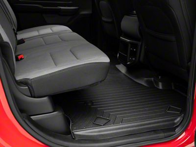 Weathertech DigitalFit Rear Floor Liner - Black (2019 RAM 1500 Crew Cab)