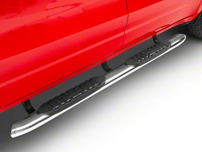 Duratrek 5 in. Oval Bent End Side Step Bars - Stainless Steel (2019 RAM 1500 Quad Cab)
