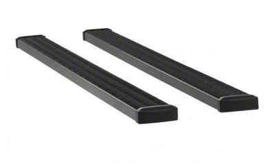 Luverne Grip Step 7 in. Wheel-to-Wheel Body Mount Running Boards - Textured Black (09-18 RAM 1500 Quad Cab)