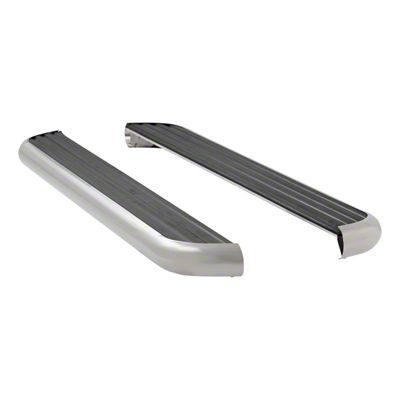 Luverne MegaStep 6.5 in. Wheel-to-Wheel Body Mount Running Boards - Polished Stainless (09-18 RAM 1500 Quad Cab)