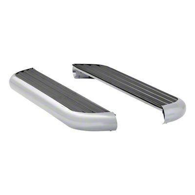 Luverne MegaStep 6.5 in. Wheel-to-Wheel Rocker Mount Running Boards - Polished Stainless (09-18 RAM 1500 Regular Cab)