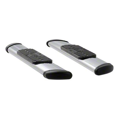 Luverne Regal 7 in. Oval Body Mount Side Step Bars - Polished Stainless (09-18 RAM 1500 Regular Cab)