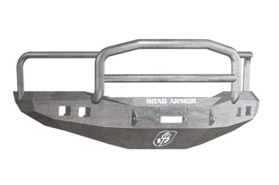 Road Armor Stealth Winch Front Bumper w/ Lonestar Guard & Square Light Mounts - Raw (06-08 RAM 1500)