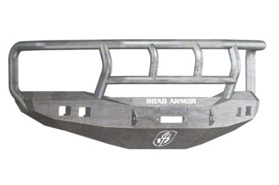 Road Armor Stealth Winch Front Bumper w/ Titan II Guard & Square Light Mounts - Raw (06-08 RAM 1500)