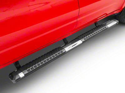 Barricade Saber 5 in. Aluminum Side Step Bars - Stainless Cover Plates (2019 RAM 1500 Quad Cab)